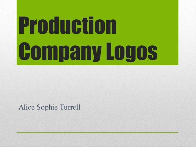 Production Company Logos Alice Sophie Turrell