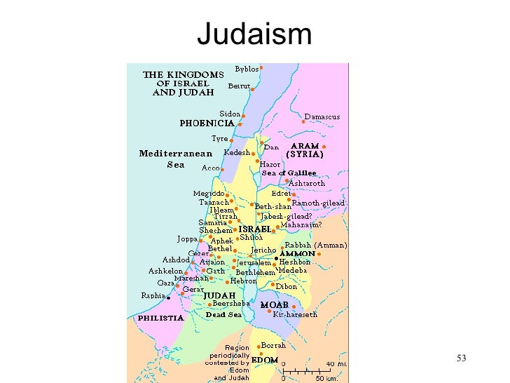 Judaism• Map of Israel                  53