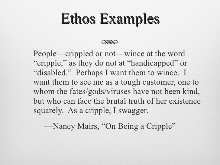 crippled essay On being a cripple nancy mairs the author's purpose in writing this essay was to show the changes a normal functioning person, and their life, go through after they.