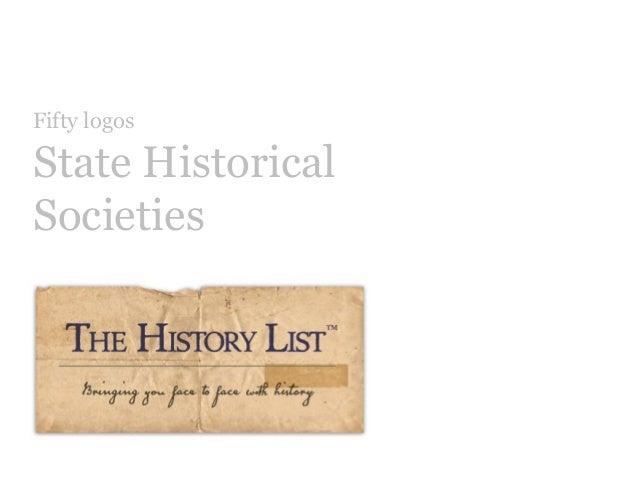 Fifty logosState HistoricalSocieties