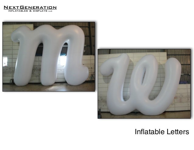 nextgenerationinflatables displays llc inatable letters