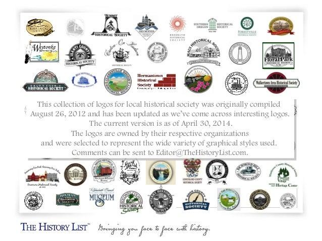 Logos for 66 local historical societies Slide 2