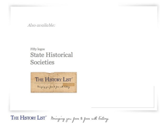 Logos for 66 local historical societies Slide 3