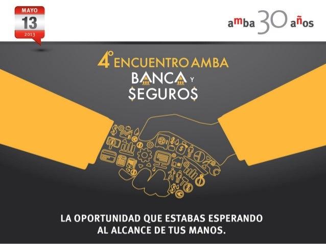 Sponsors 4º Encuentro AMBA Banca y Seguros