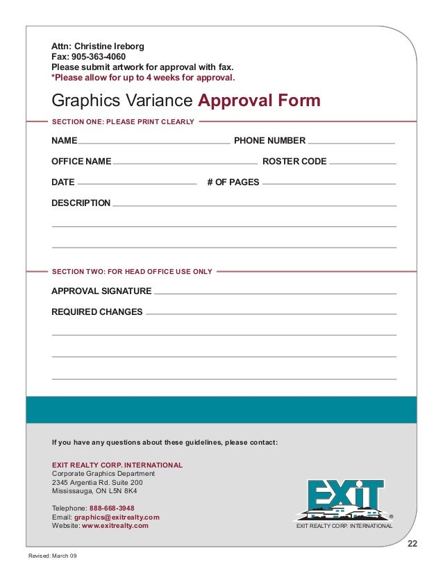Graphic Design Artwork Approval Form