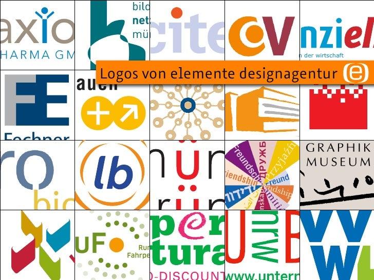 Logos von elemente designagentur