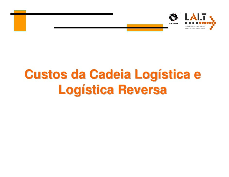 Custos da Cadeia Logística e     Logística Reversa