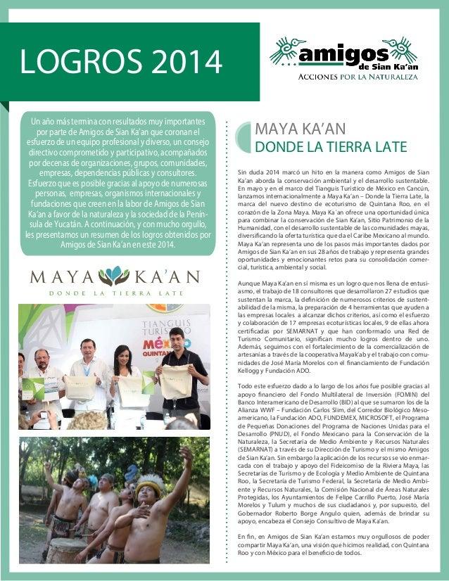 Logros Amigos de Sian Ka\'an 2014