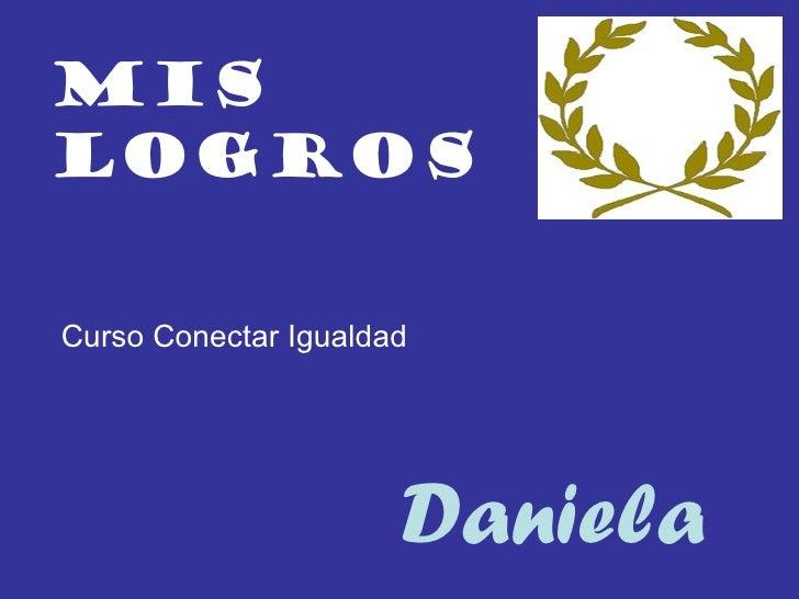 Mis logros Daniela Curso Conectar Igualdad