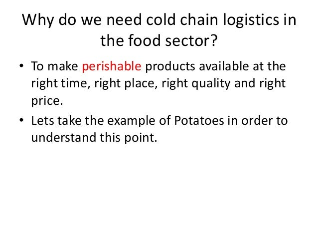 cold chain logistics A history of the global supply chain's search for the last link to keep perishable goods at controlled temperatures.