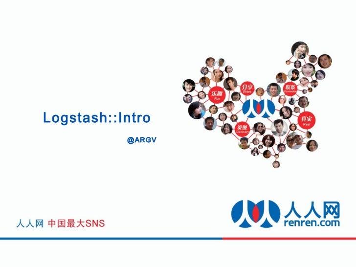 Logstash::Intro           @ARGV
