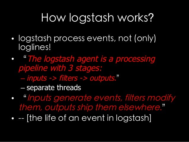 Logstash family introduction