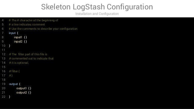 LogStash in action