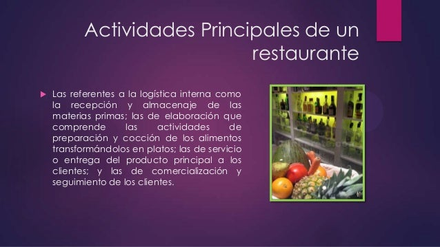 Log Stica De Restaurante