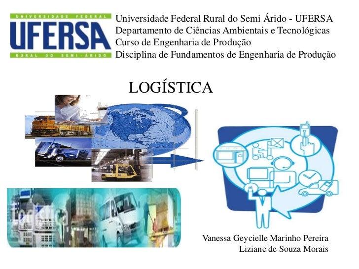 Universidade Federal Rural do Semi Árido - UFERSADepartamento de Ciências Ambientais e TecnológicasCurso de Engenharia de ...