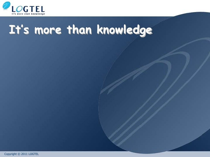 It's more than knowledge<br />