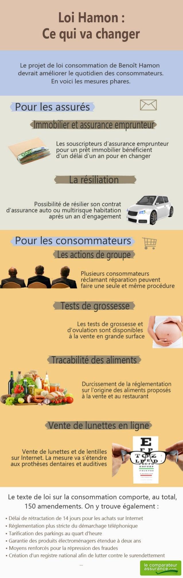 Infographie sur la loi Hamon sur la consommation