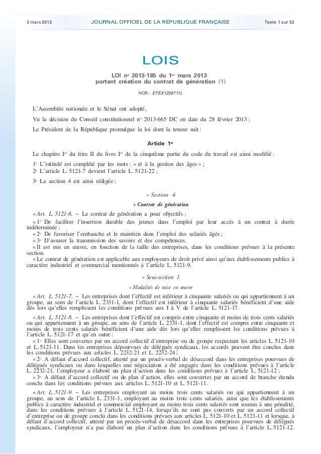 3 mars 2013                JOURNAL OFFICIEL DE LA RÉPUBLIQUE FRANÇAISE                                Texte 1 sur 52      ...