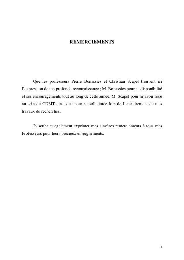 REMERCIEMENTS Que les professeurs Pierre Bonassies et Christian Scapel trouvent ici l'expression de ma profonde reconnaiss...