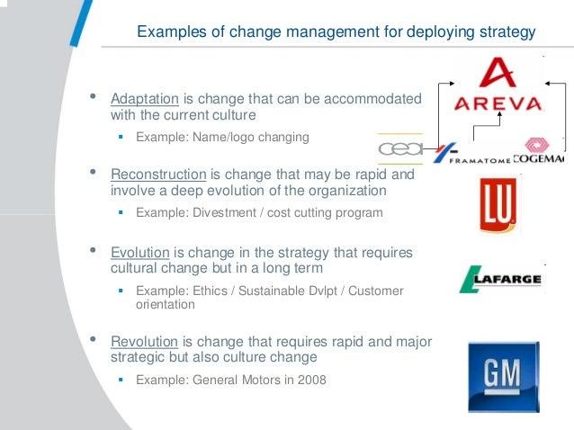 general motors change management strategy