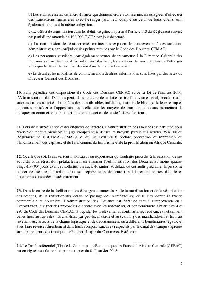 TÉLÉCHARGER CODE DES DOUANES CEMAC GRATUITEMENT