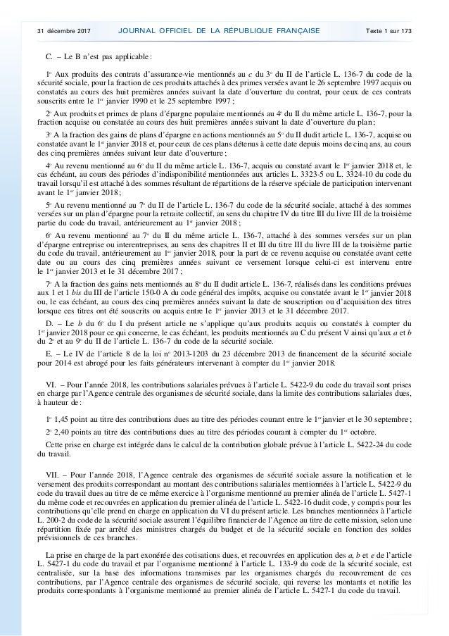 Loi Financement Securite Sociale 2018