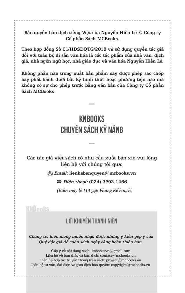 Bản quyền bản dịch tiếng Việt của Nguyễn Hiến Lê © Công ty Cổ phần Sách MCBooks. Theo hợp đồng Số 01/HĐSDQTG/2018 về sử dụ...