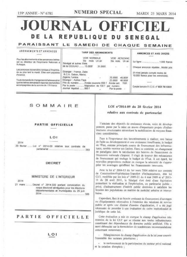 Loi n 2014 09 relative aux contrats de partenariat