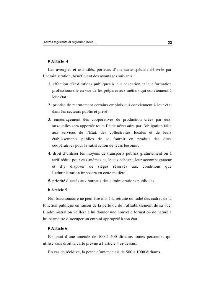 Loi n° 5 81 relative à la protection sociale des aveugles et des déficients visuels Slide 3