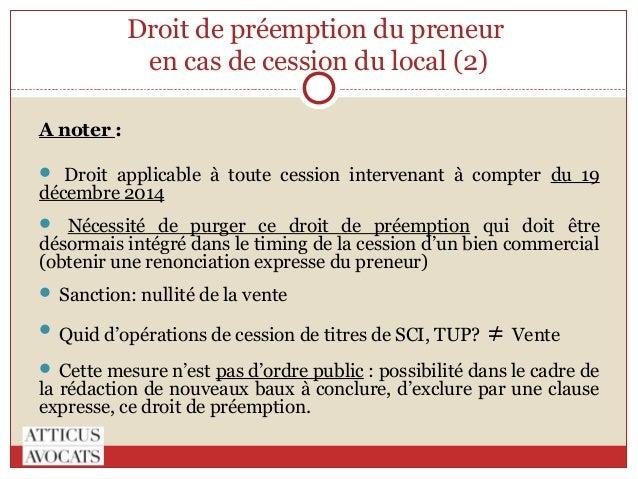 Loi pinel et baux commerciaux - Le droit de preemption ...