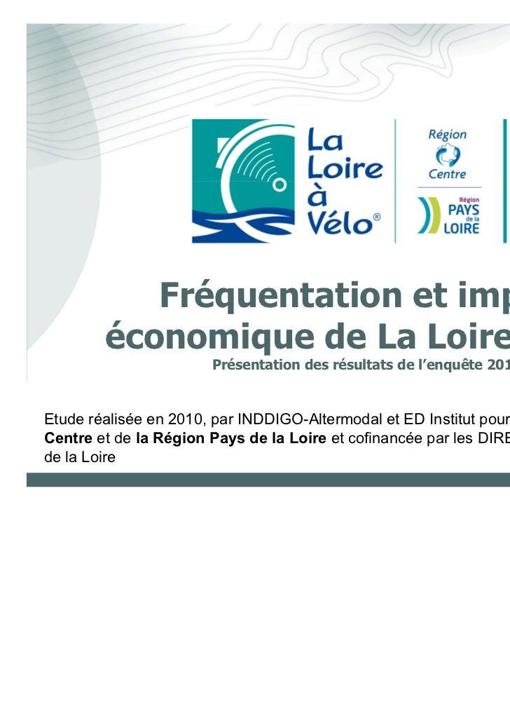 Fréquentation et impact        économique de La Loire à Vélo                       Présentation des résultats de l'enquête...