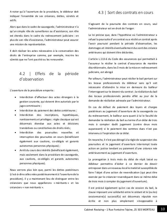 10Cabinet Rostaing – 1 Rue Fontaine l'épine, 25 503 MORTEAU A noter qu'à l'ouverture de la procédure, le débiteur doit ind...
