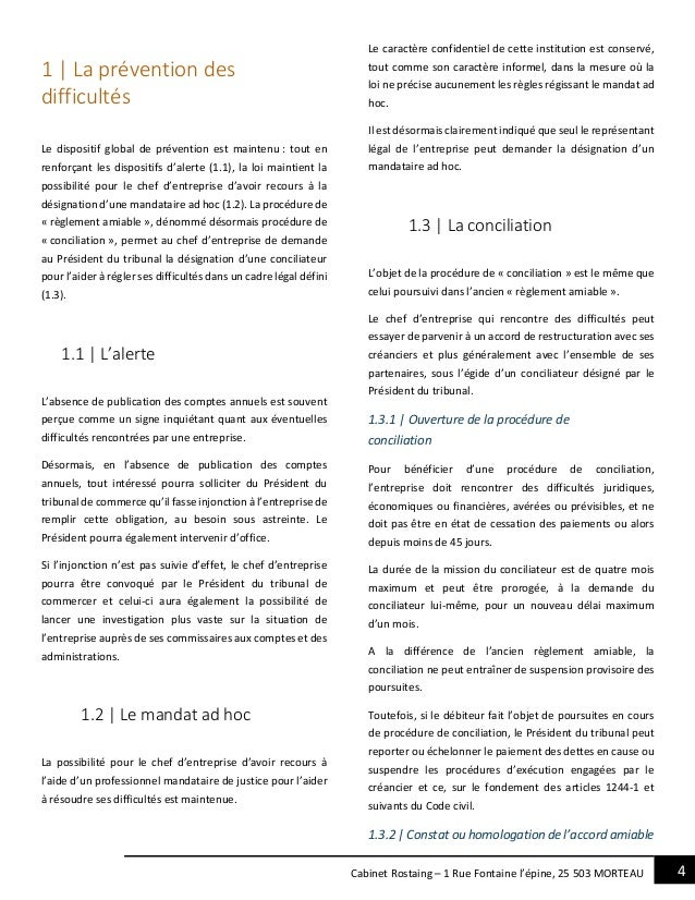 4Cabinet Rostaing – 1 Rue Fontaine l'épine, 25 503 MORTEAU 1 | La prévention des difficultés Le dispositif global de préve...