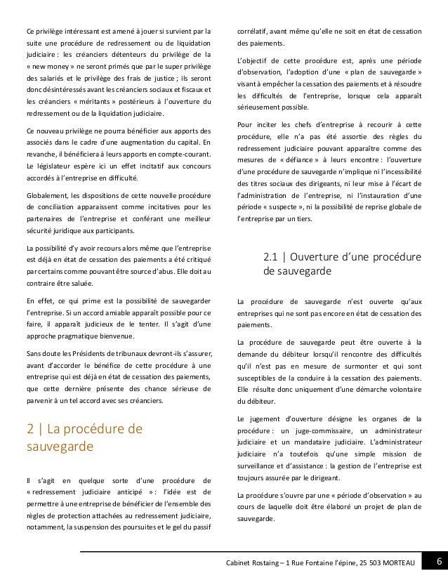 6Cabinet Rostaing – 1 Rue Fontaine l'épine, 25 503 MORTEAU Ce privilège intéressant est amené à jouer si survient par la s...