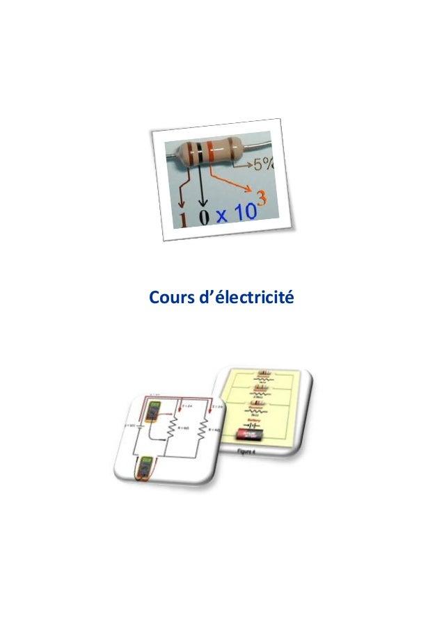 Cours d'électricité