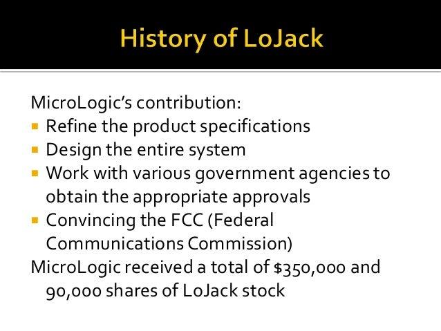 Lojack and the micrologic alliance