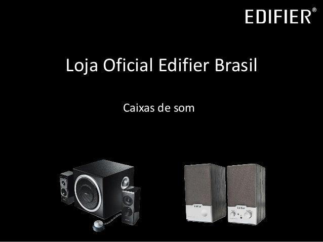 Loja Oficial Edifier Brasil Caixas de som