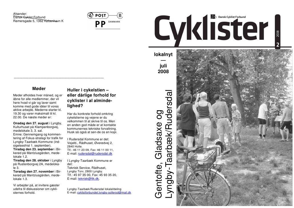 Afsender: Dansk Cyklist Forbund Rømersgade 5, 1362 København K                                                            ...