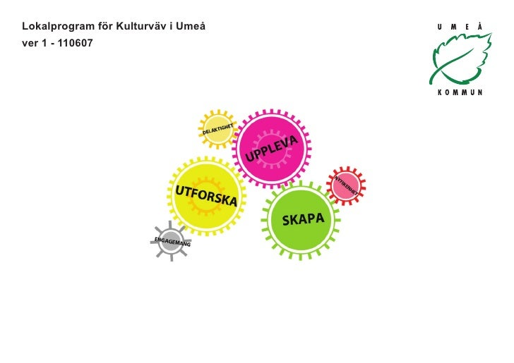 Lokalprogram för Kulturväv i Umeåver 1 - 110607