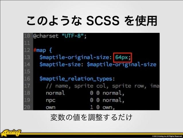 展開される CSS ファイルの トータルのコード行数は     32712(expanded style, line_comments OFF)