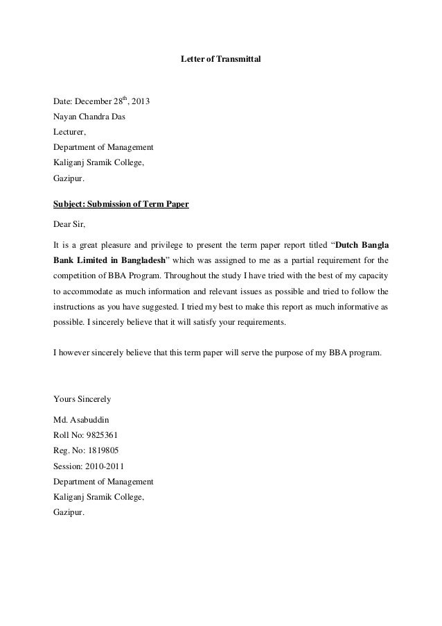 Term Paper on Islami Bank Limited