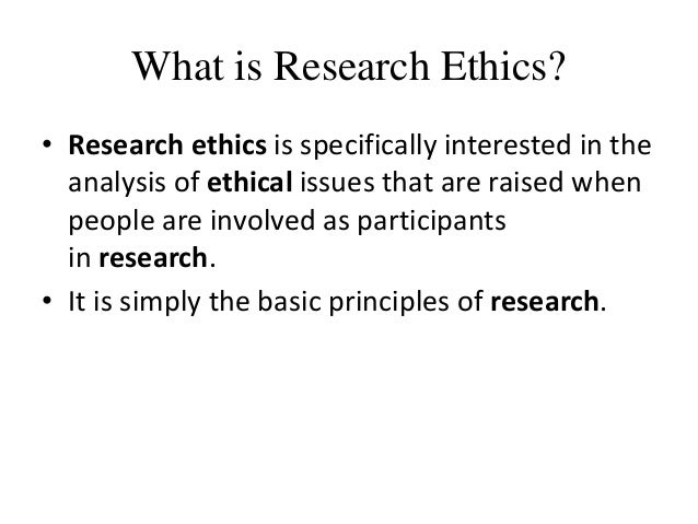 What is Research Ethics and  what is it's Importance? Slide 2