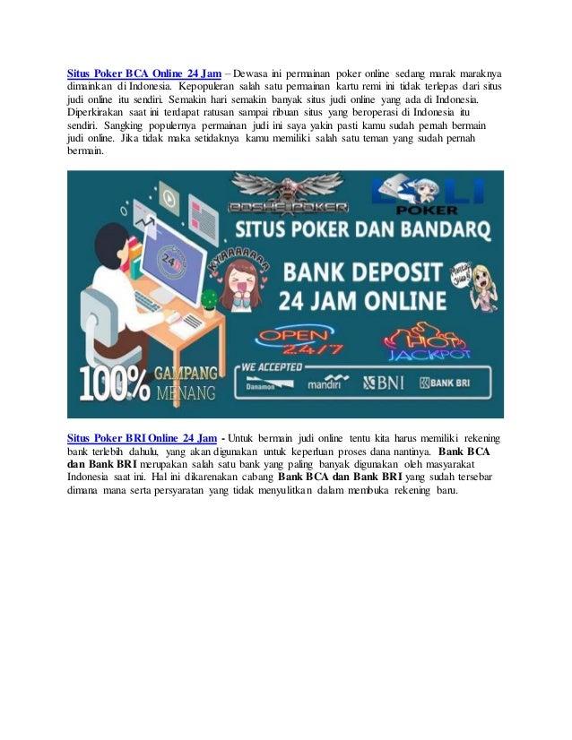 Lolipoker Kumpulan Situs Judi Poker Online Bank Bca Dan Bri 24 Jam Te