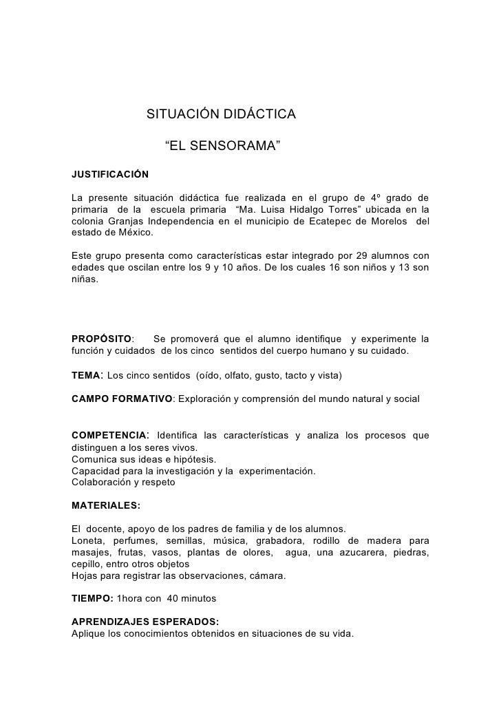 Situaci n did ctica el sensorama for Actividades para jardin maternal