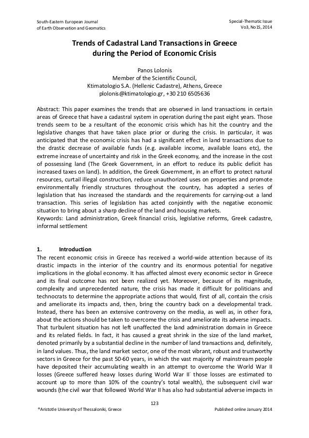 South‐EasternEuropeanJournal ofEarthObservationandGeomatics  Special‐ThematicIssue Vo3,No1S,2014   ®Arist...