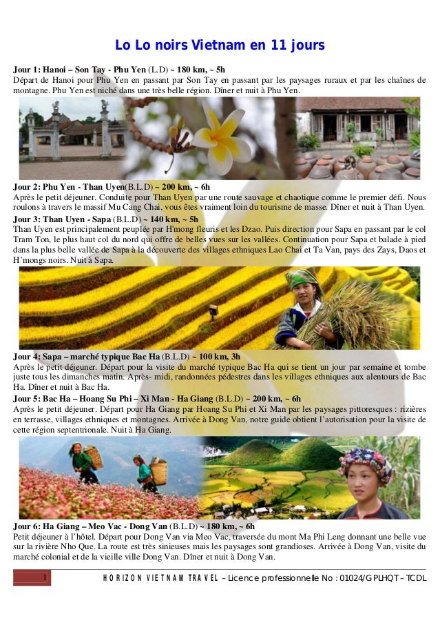 Lo Lo noirs Vietnam en 11 joursJour 1: Hanoi – Son Tay - Phu Yen (L.D) ~ 180 km, ~ 5hDépart de Hanoi pour Phu Yen en passa...