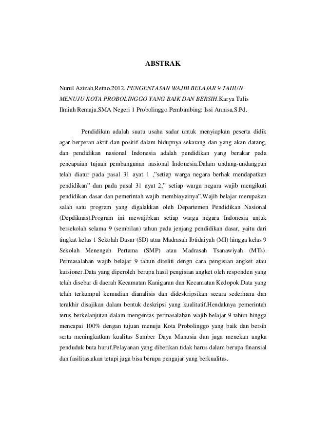 Contoh Karya Tulis Ilmiah Pendidikan Sekolah Dasar Ljmflnjl Info