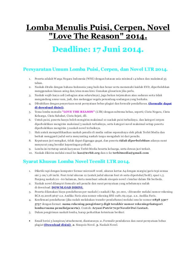 Contoh Cerpen Judul Keluargaku - Lowongan Kerja Terbaru