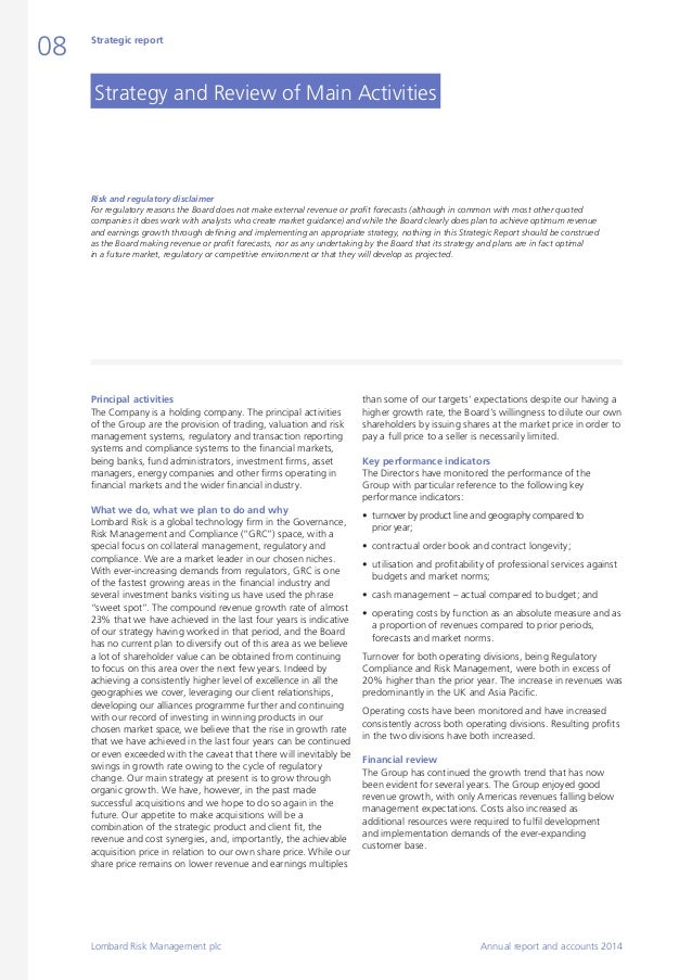 risk management annual report
