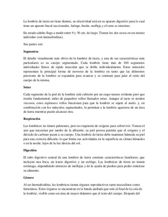 Atractivo Anatomía De La Lombriz De Tierra Foto - Anatomía de Las ...
